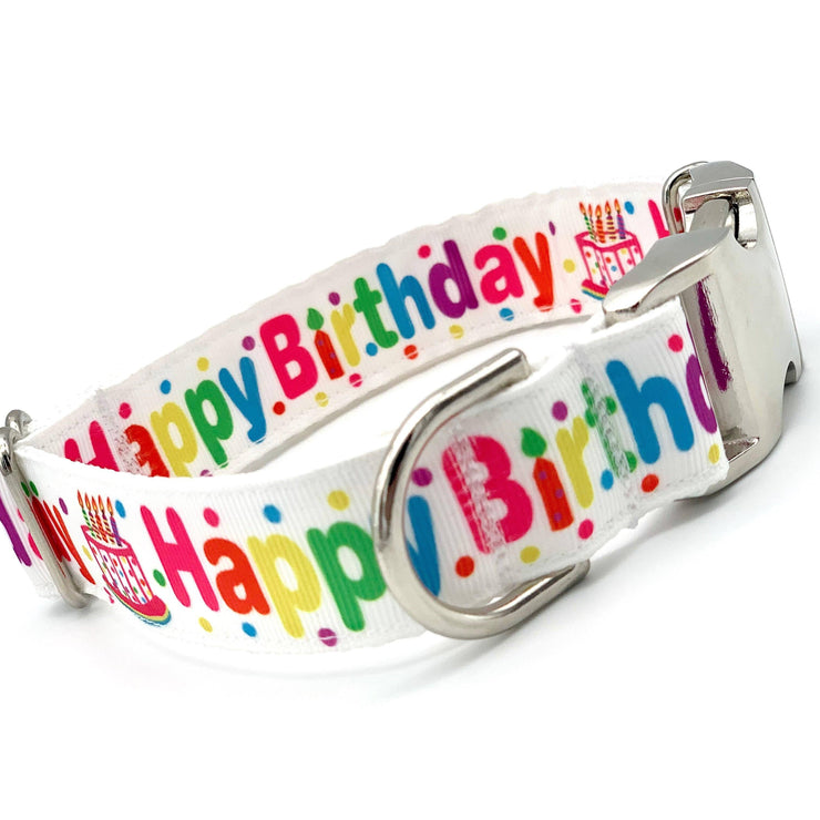 Dog Collars - Happy Birthday Dog Collar