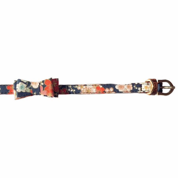 Dog Collars - Kyoto Pink Dog Collar With Bow