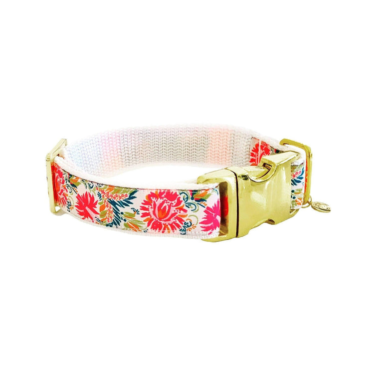 "Dog Collars - Pink Floral Dog Collar - ""The In Bloom"""