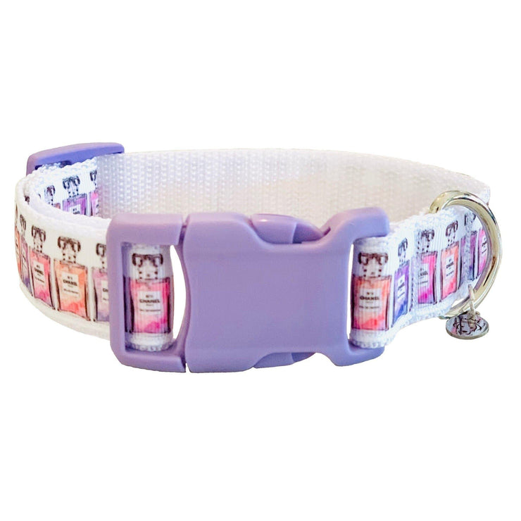 Dog Collars - Pink Perfume Bottles Dog Collar
