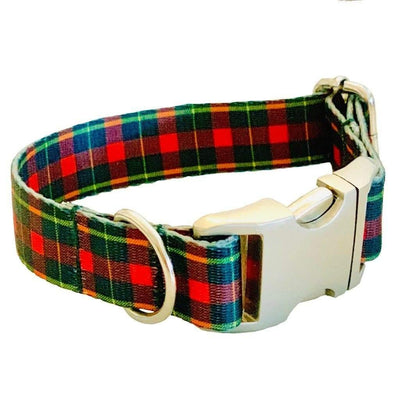 Dog Collars - Red Tartan Plaid Dog Collar