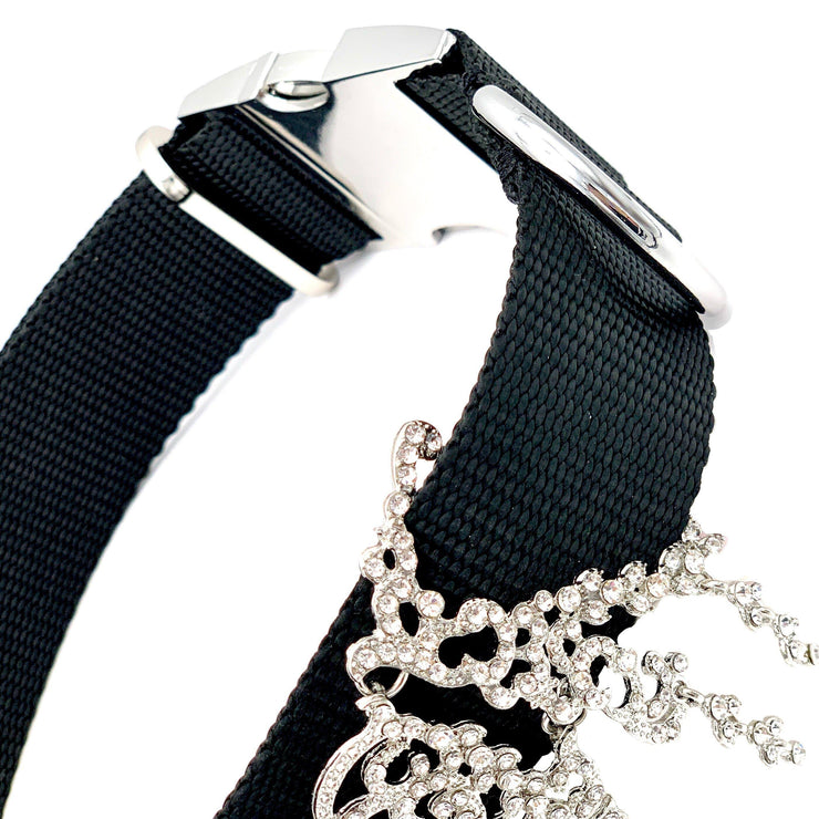 Dog Collars - Rhinestone Teardrops Luxury Large Dog Collar