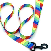 Dog Collars - Striped Rainbow Dog Leash