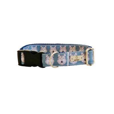 Dog Collars - The Lobo - Wolf Blue Dog Collar
