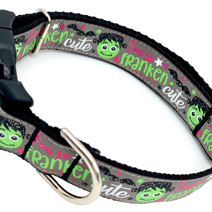 Franken-Cutie Halloween Dog Collar