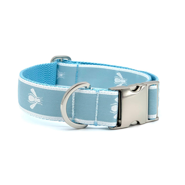 Baby Blue Bees Dog Collar