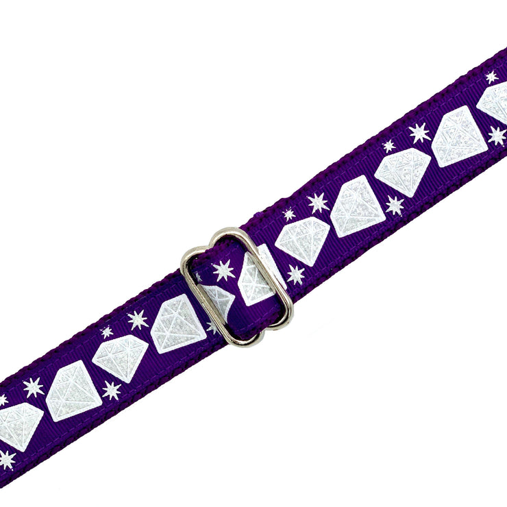 Purple Diamonds Dog Collar