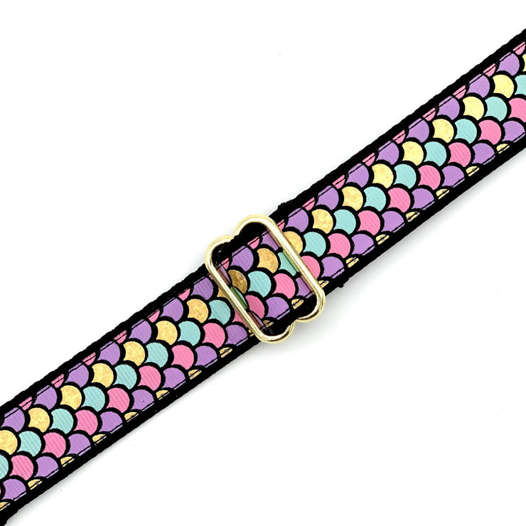 Colorful Mermaid Scales Dog Collar