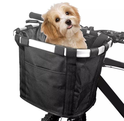 Multifunctional Pet Bicycle Basket for Small Dogs and Cats