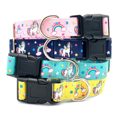 Enchanted Unicorn Rainbow Dog Collar