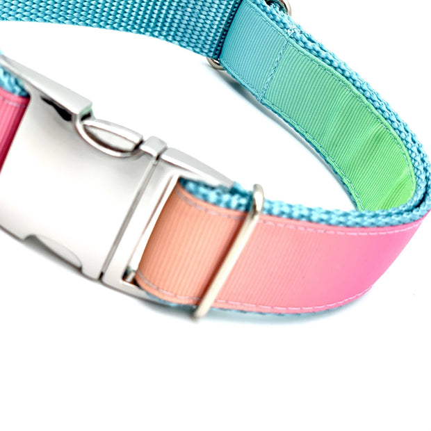 Ombre Rainbow Pastel Dog Collar | MOBF