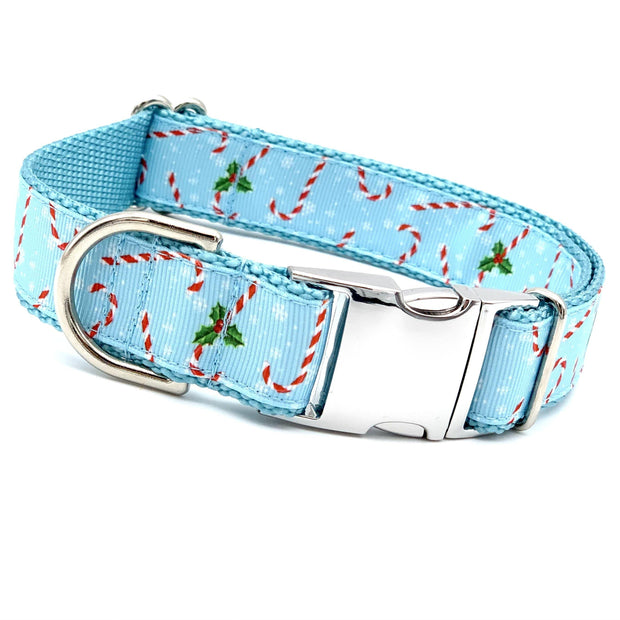 Candy Canes Dog Collar