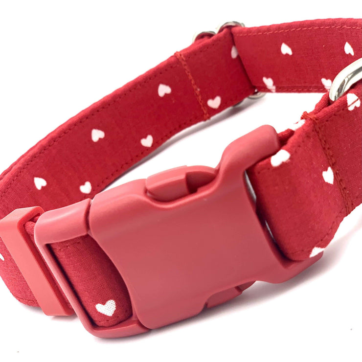 Queen of Hearts Red Dog Collar