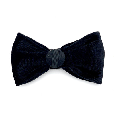 Black Velvet Dog Bow Tie