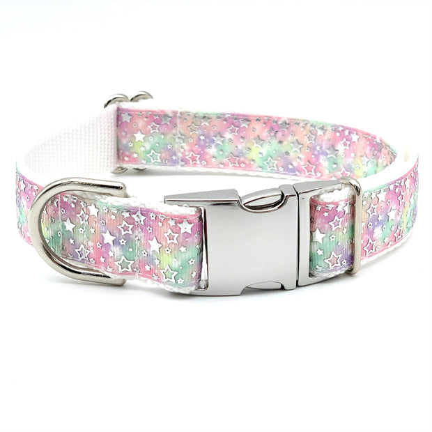Starry Watercolors Dog Collar