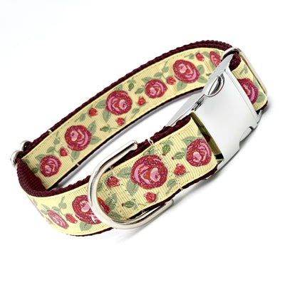 Enchanted English Roses Dog Collar | MOBF