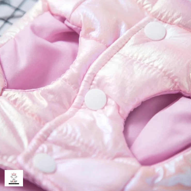 Iridescent Pink Winter Puffer Vest
