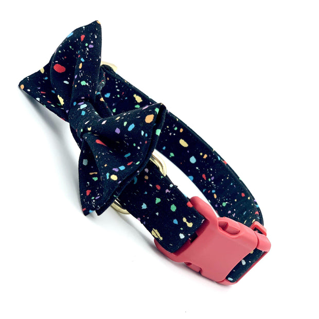 Party Time Dog Collar with Bow Tie
