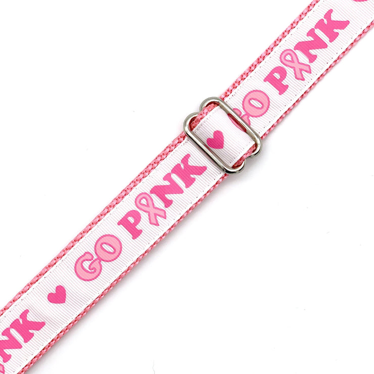 Go Pink! Breast Cancer Awareness Dog Collar