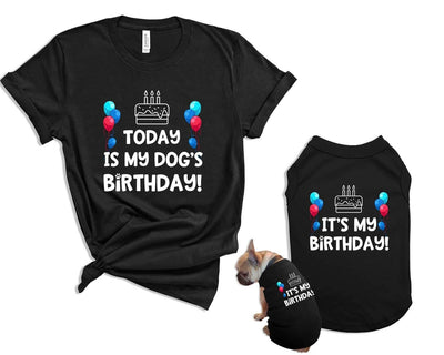 It's My Dog's Birthday Matching Pet and Owner and Shirt Set