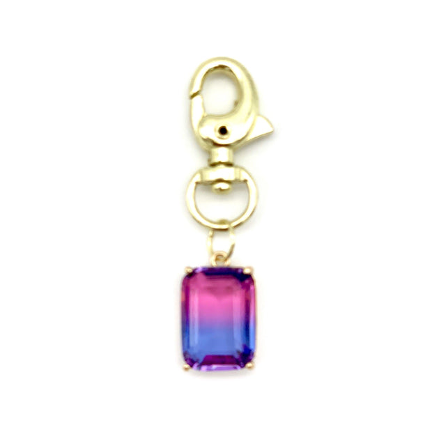 Ombré Crystal Emerald Cut Dog Collar Charms