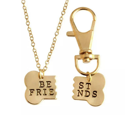 Owner Apparel - Best Friends Necklace And Pet Collar Charms Set