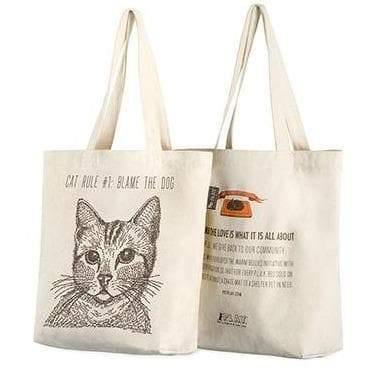 Owner Apparel - Best In Show Funny Cat Tote Bag - Cat (Cat Rule #1)
