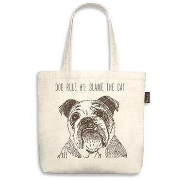 Owner Apparel - Best In Show Funny Dog Tote Bag - Bulldog (Dog Rule #1)
