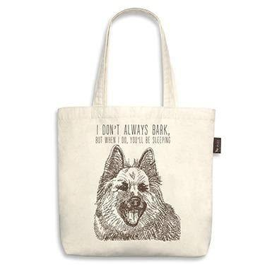 Owner Apparel - Best In Show Funny Dog Tote Bag - German Shepherd (When I Bark)