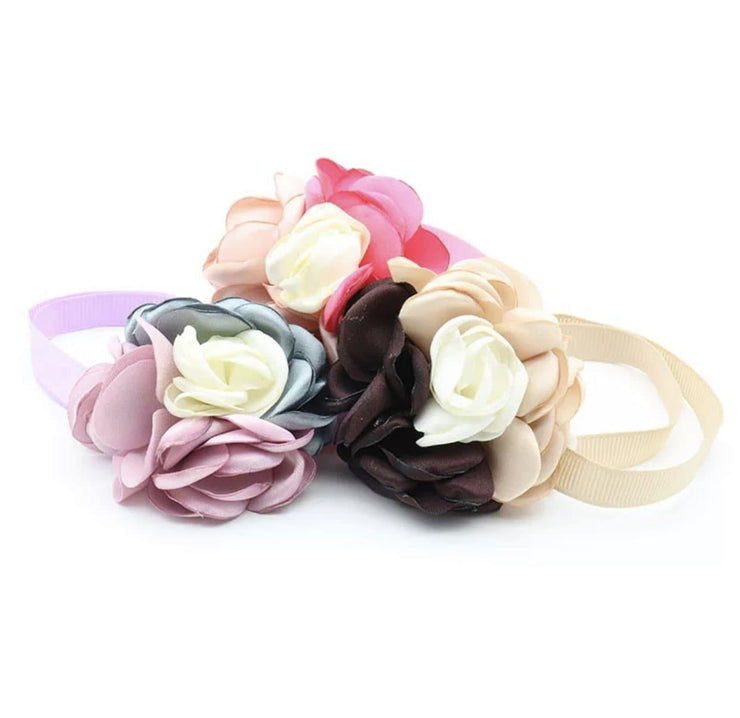 Pet Collars - Silk Flower Ribbon Pet Collars