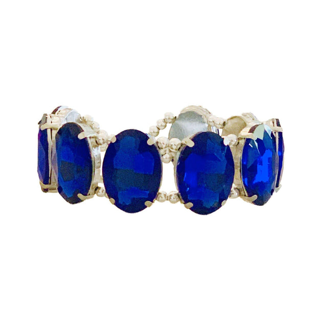 "Pet Jewelry - Blue Sapphire Pet Necklace Collar - ""The Luna"" 