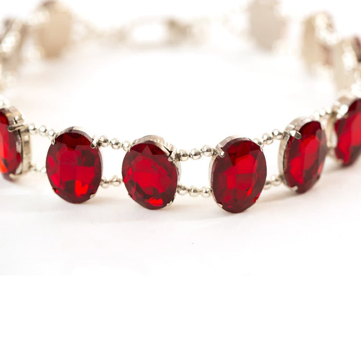 "Pet Jewelry - Sparkling Ruby Red Pet Necklace Collar - ""The Elizabeth"" 