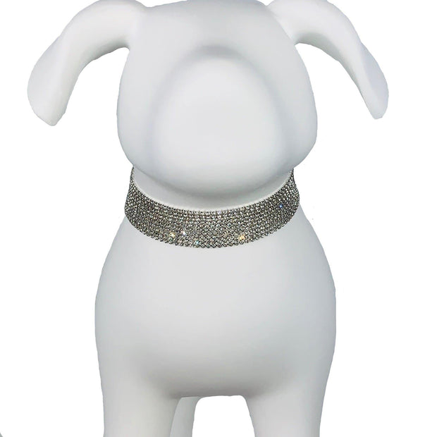 "Pet Jewelry - Swarovski Crystal 10 Strand Pet Collar Necklace - ""The HRH"""