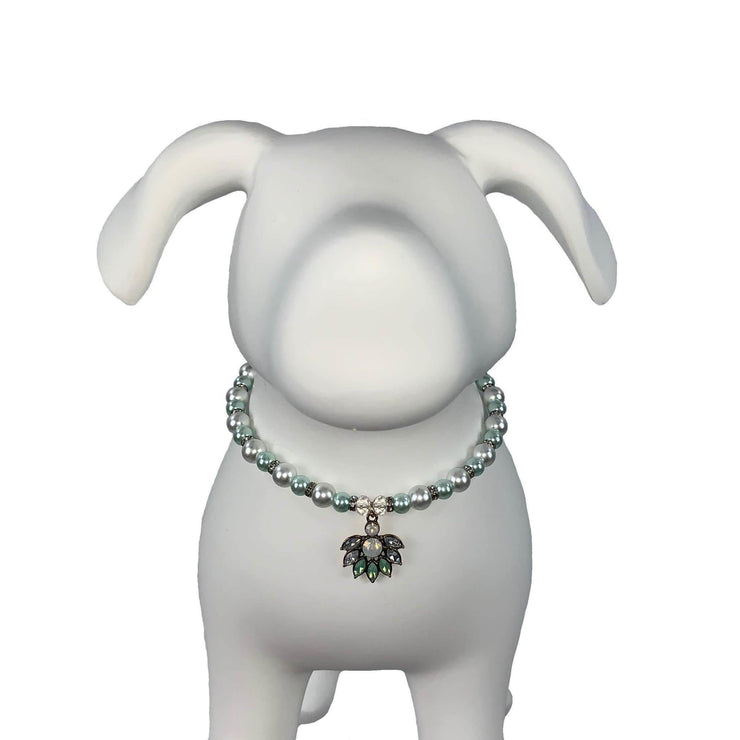 Pet Jewelry - The Crystal Lotus Pet Necklace Collar