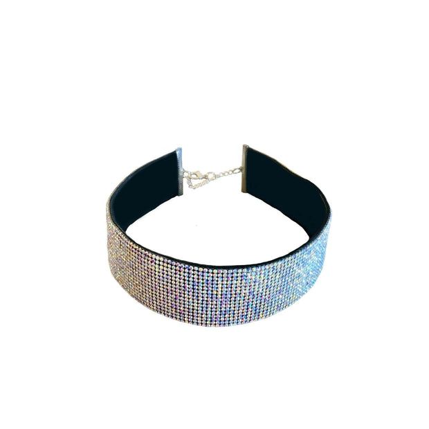 Pet Jewelry - The Marchioness - Wide Band Crystal Rhinestone Pet Collar Necklace