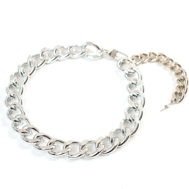 Pet Jewelry - The Notorious D.O.G. Silver Chain Dog Collar Necklace