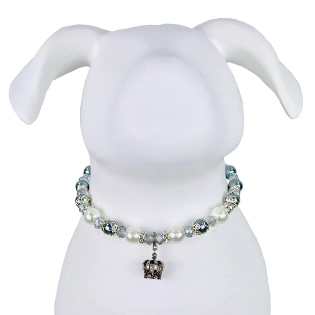 "Pet Jewelry - White Pearl Necklace Collar - ""The Windsor"" By My Other Best Friend (MOBF)"