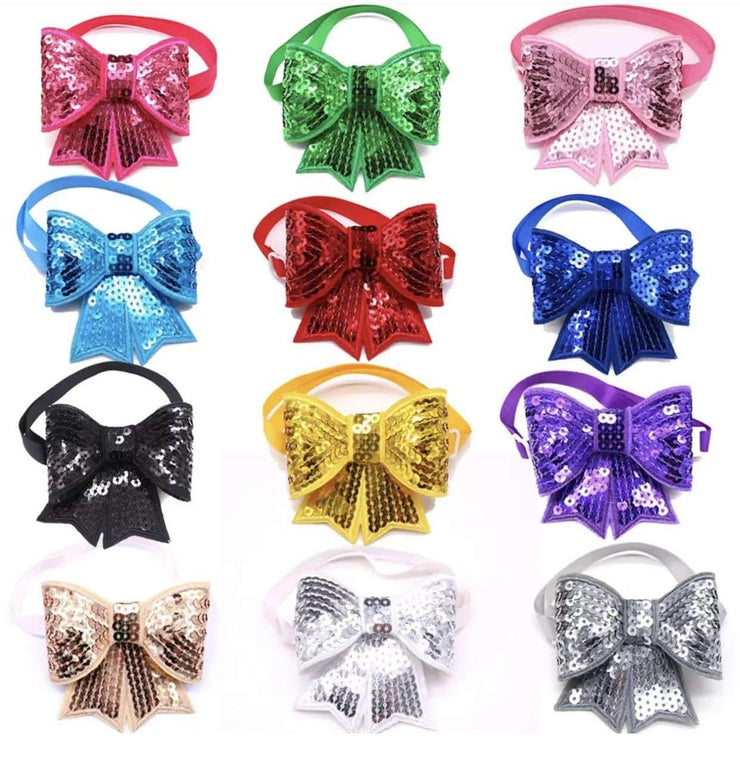 Pet Lifestyle - Colorful Sparkle Sailor Bow Tie