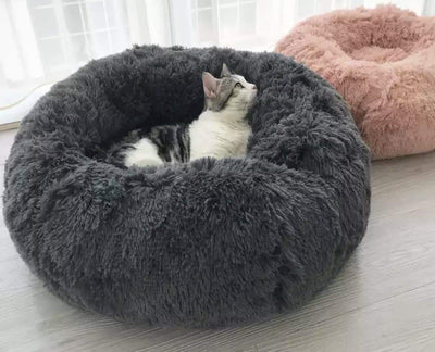 Pet Lifestyle - Furry Plush Comfortable Nesting Pet Bed