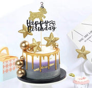 Pet Lifestyle - Happy Birthday Dog Cake Topper