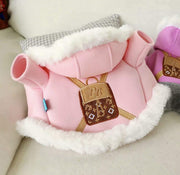 Pet Lifestyle - Pink Pet Hoodie With Embroidered Backpack
