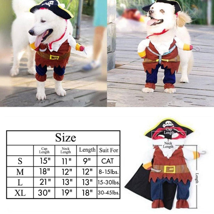 Pet Lifestyle - Pirate Halloween Pet Costume For Dog And Cats