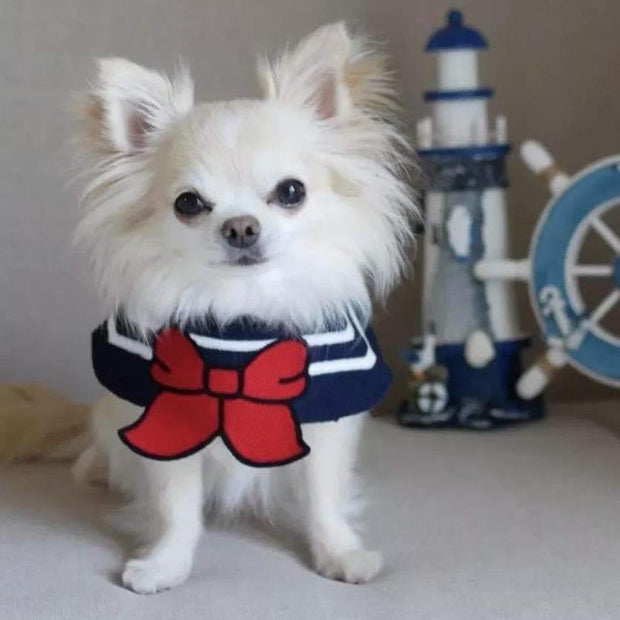 Pet Lifestyle - Sailor Pet Costume Collar For Dogs And Cats