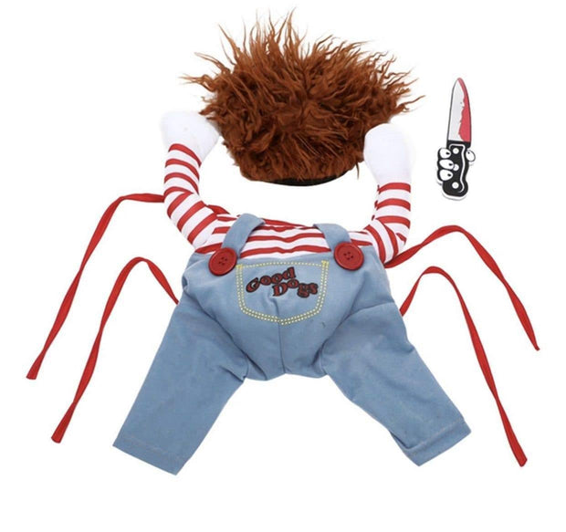 Pet Lifestyle - Scary Doll Halloween Dog Costume