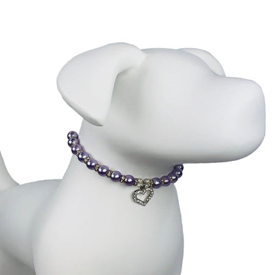 Pet Lifestyle - The Violet Lady Pave Crystal Pet Necklace