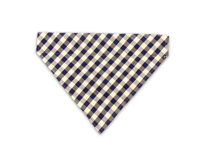 Pet Lifestyle - Vichy Checkered Blue Dog Bandana