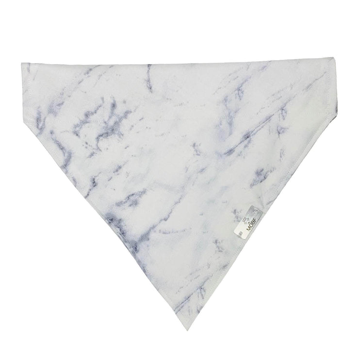 Pet Lifestyle - White Marble Pet Bandanna By My Other Best Friend (MOBF)