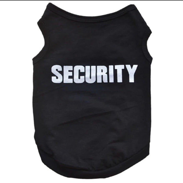 "Pet Shirts - Funny Pet Tee ""Security"" Pet Shirt"