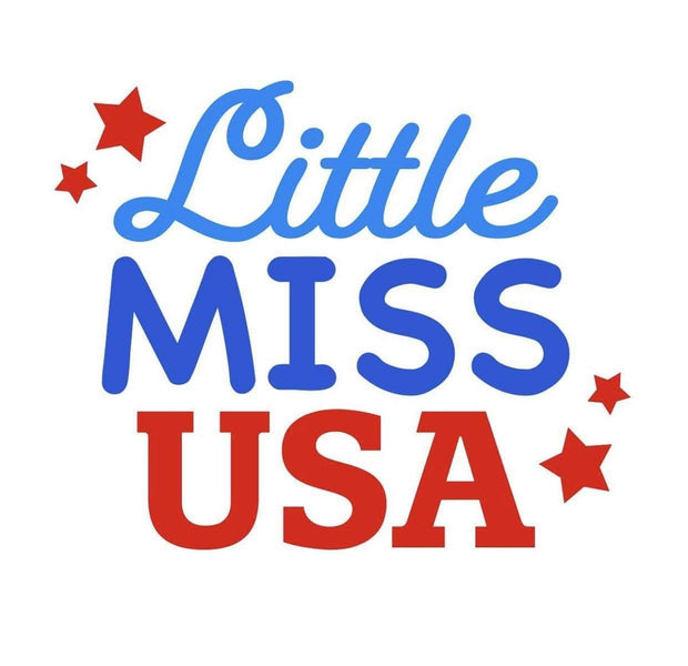 Pet Shirts - Little Miss USA Pet Shirt