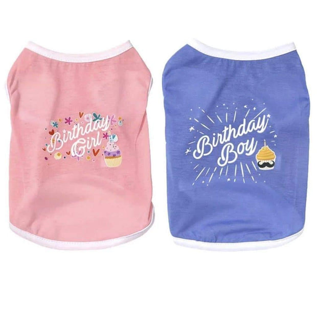 Pet Shirts - Pet Birthday Shirt Embroidered With Happy Birthday